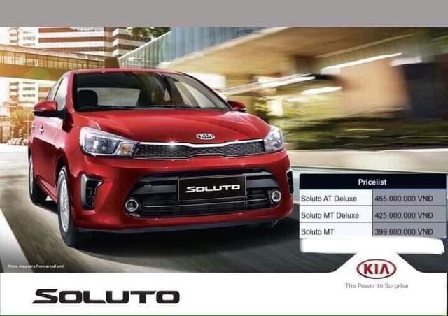 Kia Soluto lộ giá bán chưa đến 400 triệu đồng - xe hạng B giá ngang VinFast Fadil - Ảnh 2.