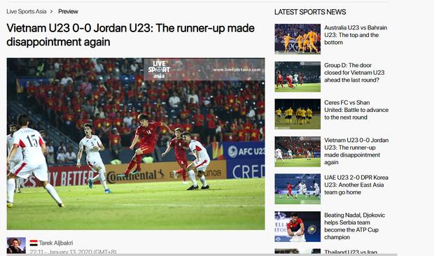 Truyền thông châu Á chê bai cực gắt: Đội tuyển U23 Việt Nam gây thất vọng tràn trề, thi đấu mà không có chút tiến bộ nào - Ảnh 1.