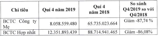 Thuỷ sản Cửu Long (ACL): Lợi nhuận quý 4/2019 giảm sâu 87%, cổ phiếu tiếp tục dò đáy - Ảnh 1.