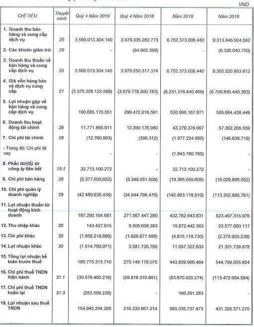 Quý 4 bất ngờ giảm sút mạnh, Ricons chỉ mới thực hiện 75% chỉ tiêu lợi nhuận với 360 tỷ đồng - Ảnh 1.