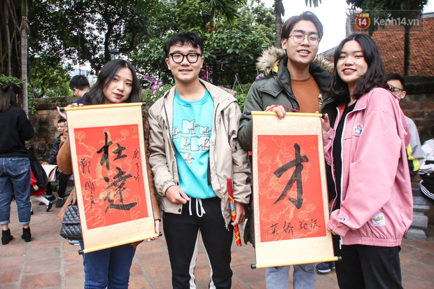 Ảnh: Chen chân xin chữ đầu năm mới tại Văn Miếu - Quốc Tử Giám - Ảnh 7.