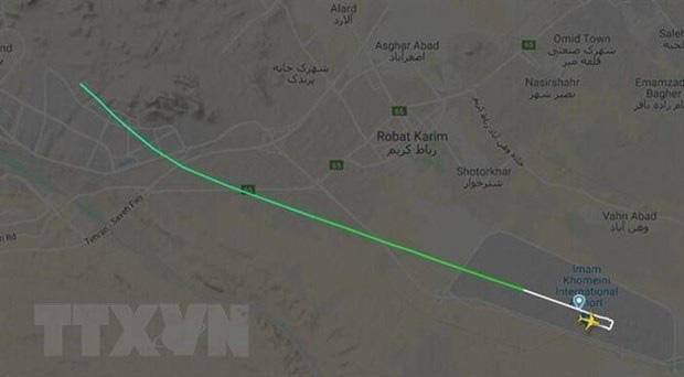 Xuất hiện video quay máy bay Ukraine chở 180 người gặp nạn tại Iran - Ảnh 1.