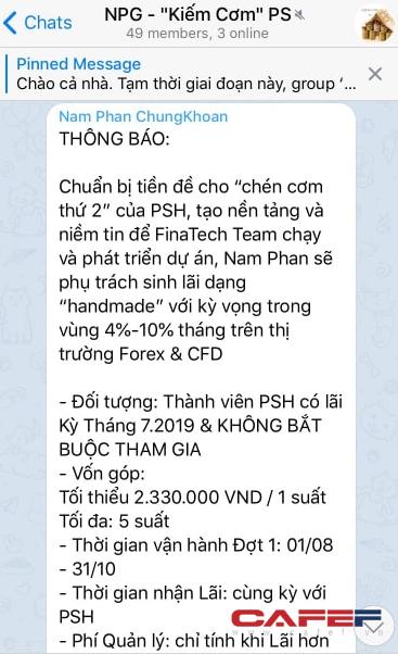 Phát lộ thêm Phái sinh hội 2 chuyên đánh Forex & CFD của ông Phan Hoàng Nam, lãi mục tiêu thậm chí lên đến 10%/tháng - Ảnh 2.