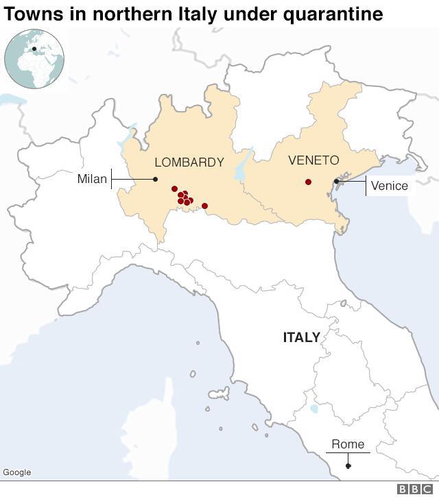 Italy: Số ca nhiễm đã lên tới 270, đường phố im ắng như những thị trấn ma - Ảnh 1.