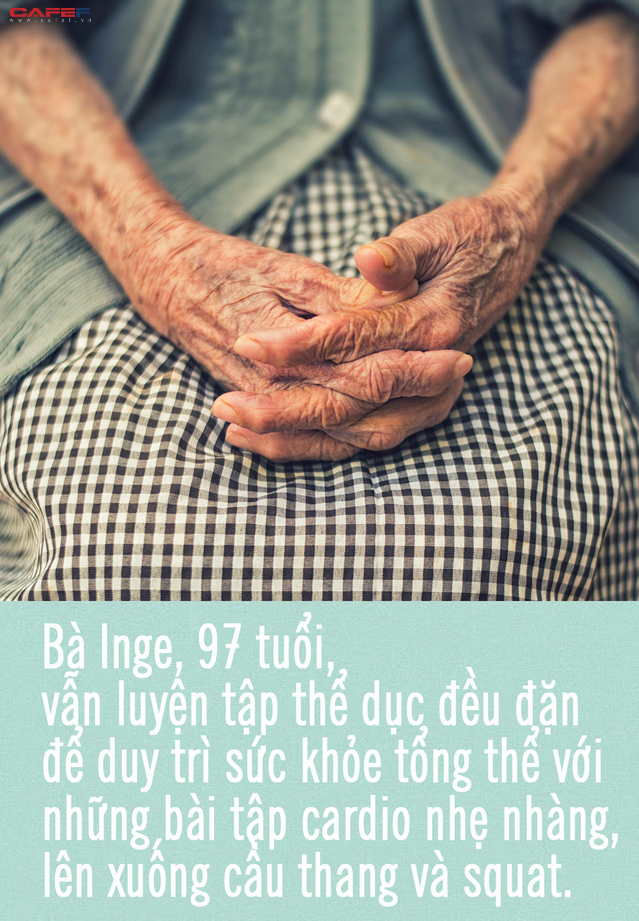 Bài học ai cũng phải biết từ cụ bà 97 tuổi: Vận động không ngừng là chìa khóa để dù gần đất xa trời vẫn luôn trẻ trung, minh mẫn - Ảnh 1.