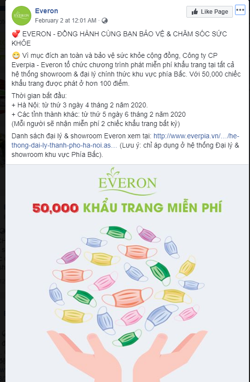 Everon phát miễn phí 50.000 khẩu trang vải, Vinatex ra mắt khẩu trang diệt khuẩn tái sử dụng 30 lần giá 7.000 đồng/chiếc - Ảnh 1.