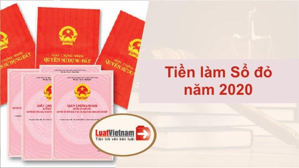 Toàn bộ các khoản tiền phải nộp khi làm sổ đỏ năm 2020 - Ảnh 1.