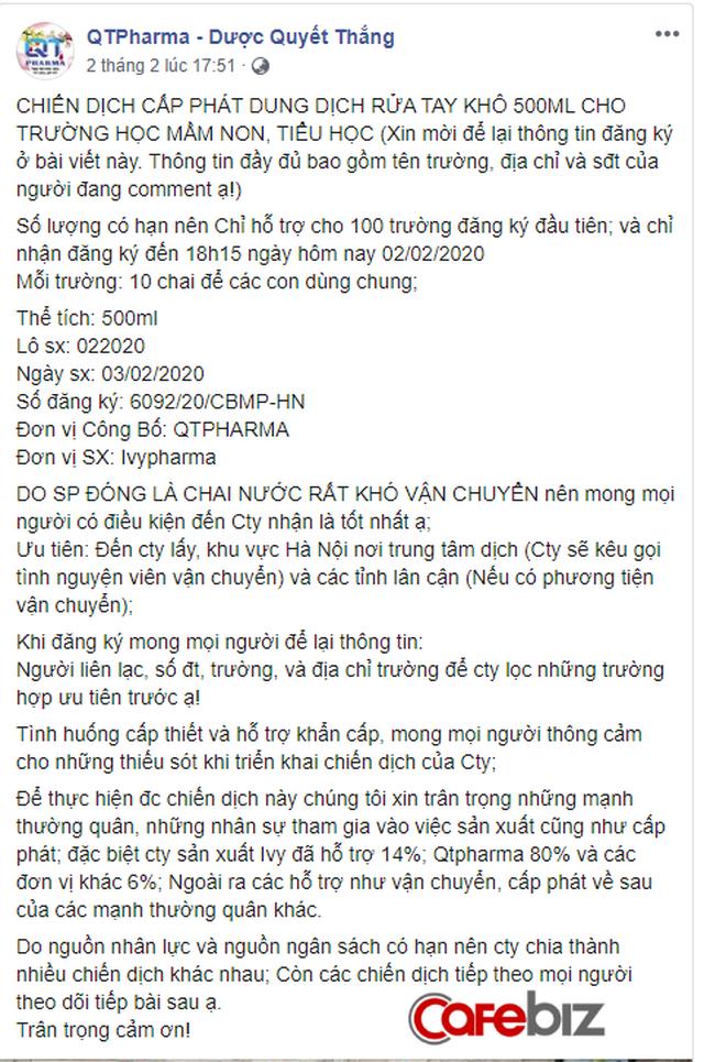 Chạy hết công suất sản xuất nước rửa tay khô, khẩu trang: Các doanh nghiệp dược tại Hà Nội chung tay phòng chống dịch corona - Ảnh 2.