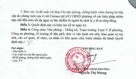 Nhiều chung cư Hà Nội thông báo cách ly tại nhà đối người đến từ vùng dịch - Ảnh 2.