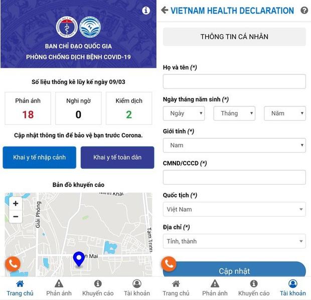 Ứng dụng khai báo y tế toàn dân Việt Nam ra mắt: Phản ánh nhanh các trường hợp nghi nhiễm COVID-19 tới cơ quan quản lý - Ảnh 2.