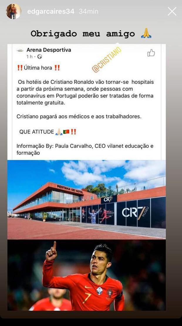 Thực hư thông tin Ronaldo biến khách sạn tiền tỷ của mình thành bệnh viện dã chiến để phục vụ công tác phòng chống Covid-19 - Ảnh 1.