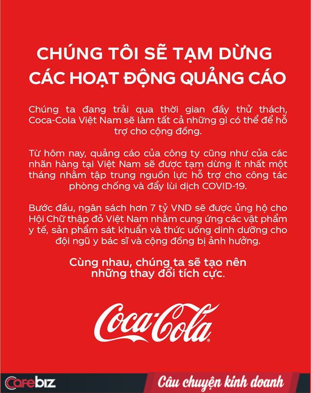 """Đại gia Coca-Cola tuyên bố """"ngừng quảng cáo 1 tháng, chuyển 7 tỷ đồng chống Covid: Giới marketing khen thông minh, dân mạng thi nhau """"cà khịa"""" - Ảnh 1."""