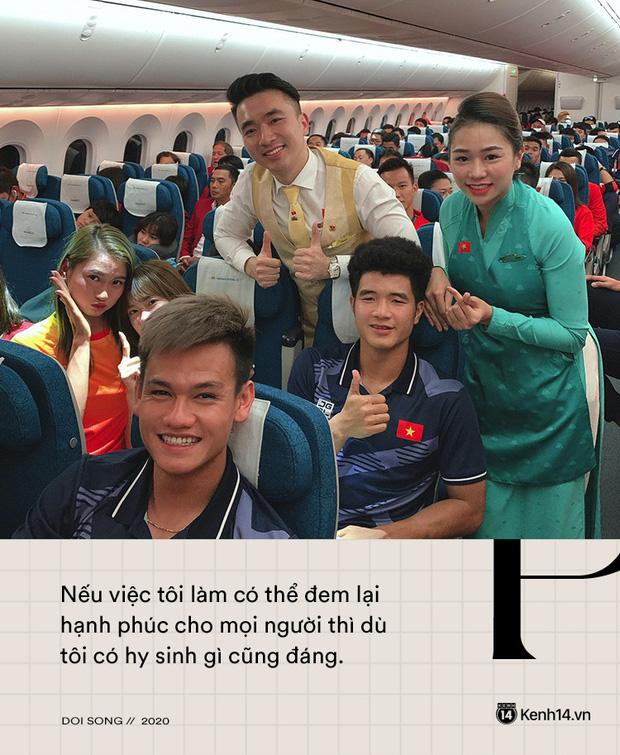 Tiếp viên trưởng Vietnam Airlines trên những chuyến bay cuối cùng vào tâm dịch: Tôi không dám nói với bố mẹ, chắc là lúc nào hạ cánh sẽ nhắn - Ảnh 3.