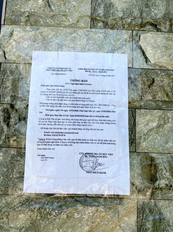 Hàng loạt sàn môi giới bất động sản đóng cửa vì dịch Covid-19 - Ảnh 5.