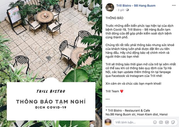 Hưởng ứng lời kêu gọi, hàng loạt quán cafe ở Hà Nội thông báo tạm dừng hoạt động, một số chuyển sang bán online - Ảnh 5.