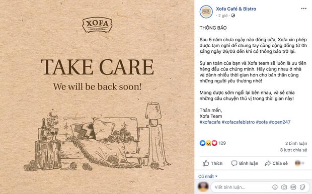 Hưởng ứng lời kêu gọi, hàng loạt quán cafe ở Hà Nội thông báo tạm dừng hoạt động, một số chuyển sang bán online - Ảnh 1.