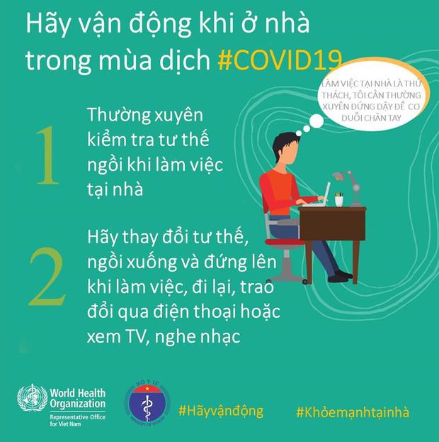 Bộ Y tế và WHO khuyến khích, hướng dẫn người dân các kiểu vận động để giữ sức khỏe trong mùa dịch COVID-19 - Ảnh 2.