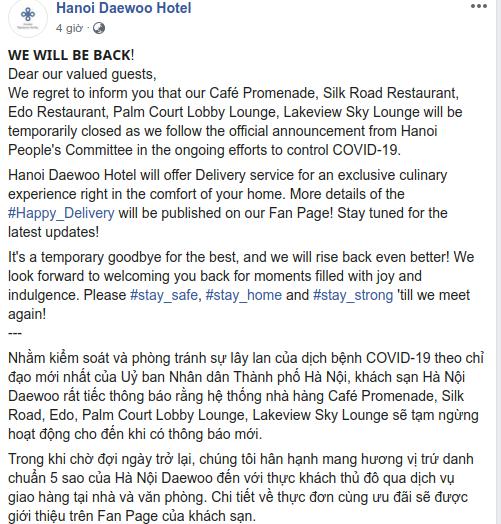 Cách các khách sạn 5 sao Hà Nội và Tp. HCM ứng phó với Covid-19: Giao phở tận nhà, gửi đầu bếp hạng sang đến nhà khách để chế biến, phục vụ - Ảnh 2.