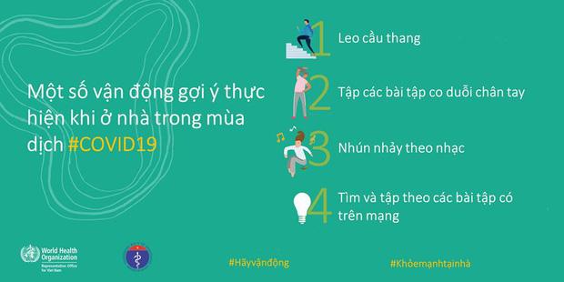 Bộ Y tế và WHO khuyến khích, hướng dẫn người dân các kiểu vận động để giữ sức khỏe trong mùa dịch COVID-19 - Ảnh 4.