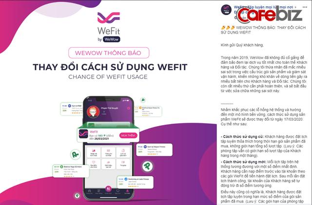 Sau scandal nợ tiền đối tác và bị tố lừa đảo, WeFit