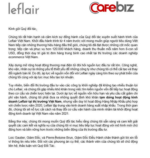 """Đóng cửa chưa lâu, startup hàng hiệu giá rẻ Leflair bị tố ôm nợ 2 triệu USD của 500 nhà cung cấp Việt, khách đặt online cũng bị """"bùng"""" hàng - Ảnh 1."""