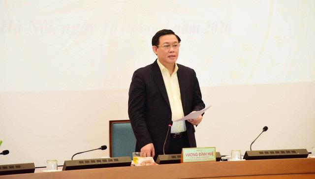 Bí thư Thành ủy Hà Nội Vương Đình Huệ: Sẽ triển khai kịp thời, công khai, minh bạch và đúng đối tượng chính sách hỗ trợ doanh nghiệp, người dân - Ảnh 1.