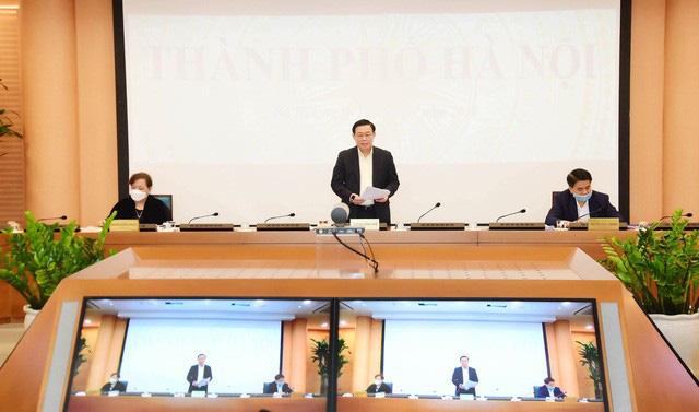 Bí thư Thành ủy Hà Nội Vương Đình Huệ: Sẽ triển khai kịp thời, công khai, minh bạch và đúng đối tượng chính sách hỗ trợ doanh nghiệp, người dân - Ảnh 2.