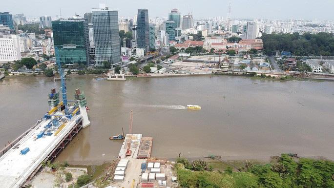 Nhìn từ trên cao, công trình cầu Thủ Thiêm 2 hiện thế nào? - Ảnh 8.