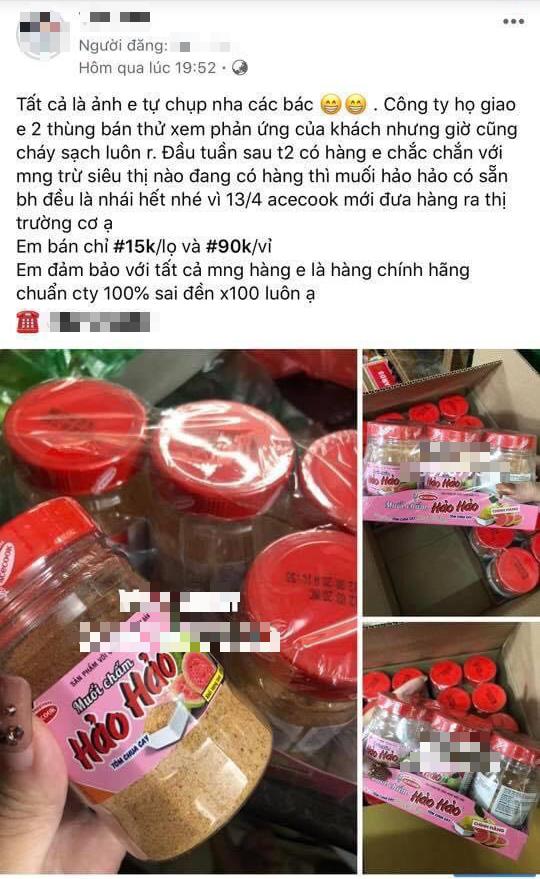 Muối chấm Hảo Hảo được bán tràn lan trên mạng xã hội, giá chỉ từ 15.000 đồng/lọ - Ảnh 2.