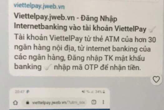Giả mạo Viettelpay để lừa đảo chiếm đoạt tài sản - Ảnh 1.