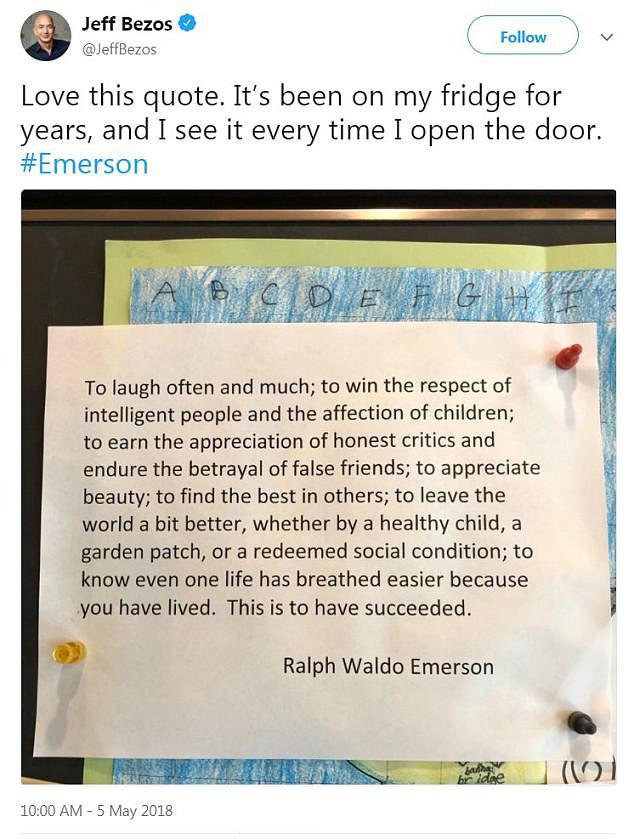 Nội dung đặc biệt trong tờ giấy bất di bất dịch dán trên tủ lạnh của tỷ phú giàu nhất hành tinh, tự nhắc nhở mình ghi nhớ mỗi ngày - Ảnh 1.