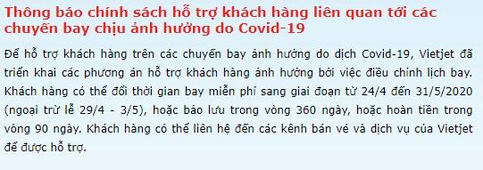 Sau văn bản của Cục Hàng không, Vietjet Air thông báo hoàn tiền trong vòng 90 ngày cho khách hàng có chuyến bay bị ảnh hưởng bởi Covid-19 - Ảnh 1.