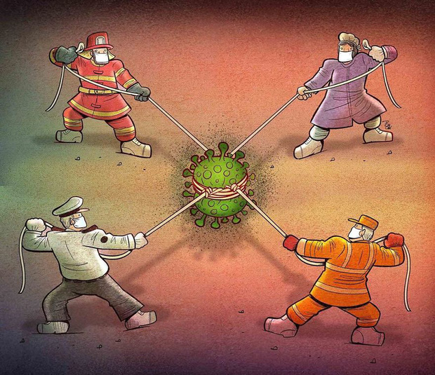 Bộ tranh ấn tượng về những người tuyến đầu chống Covid-19: Dù virus là kẻ thù vô hình nhưng cuộc chiến vẫn quá tàn nhẫn và có nhiều sự hy sinh! - Ảnh 5.