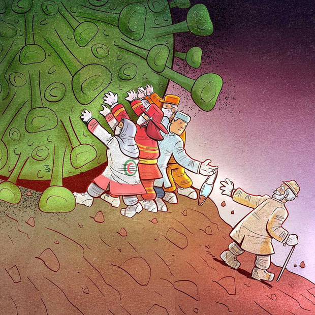 Bộ tranh ấn tượng về những người tuyến đầu chống Covid-19: Dù virus là kẻ thù vô hình nhưng cuộc chiến vẫn quá tàn nhẫn và có nhiều sự hy sinh! - Ảnh 6.