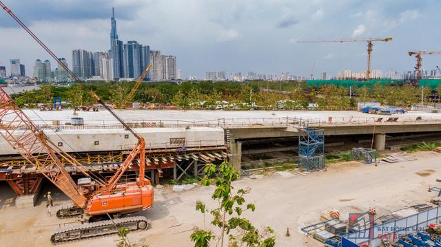 Cập nhật tiến độ thi công dự án cầu Thủ Thiêm 2: Đẩy nhanh tiến độ, dự kiến thông xe kỹ thuật vào tháng 9 - Ảnh 5.