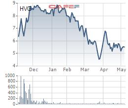 HVG bị ngưng giao dịch từ 15/5 - Ảnh 1.