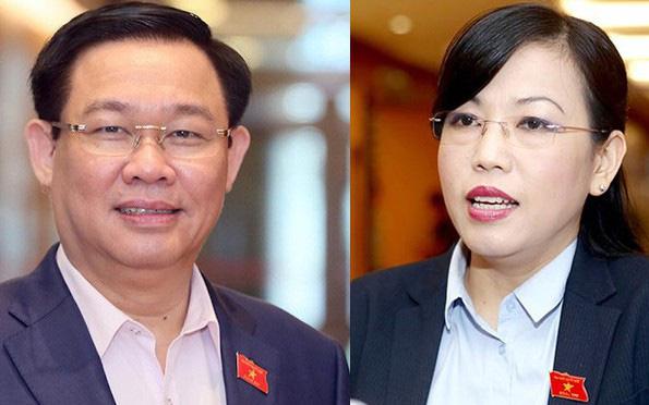 Quốc hội sẽ miễn nhiệm ông Vương Đình Huệ và bà Nguyễn Thanh Hải - Ảnh 1.
