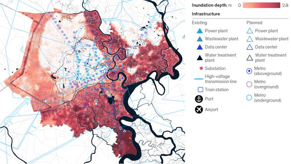 Nguy cơ ngập lụt tăng gấp 10 lần ở TP.HCM có thể gây thiệt hại 8,4 tỷ USD cho bất động sản vào năm 2050 - Ảnh 1.
