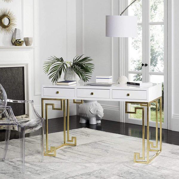 Những chiếc bàn làm việc màu trắng làm sáng không gian - Ảnh 2.
