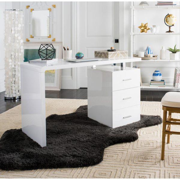 Những chiếc bàn làm việc màu trắng làm sáng không gian - Ảnh 3.