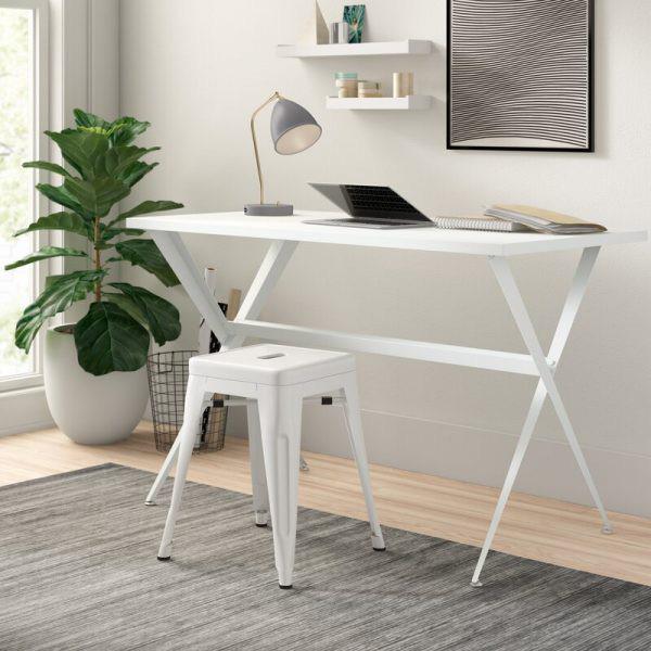 Những chiếc bàn làm việc màu trắng làm sáng không gian - Ảnh 4.