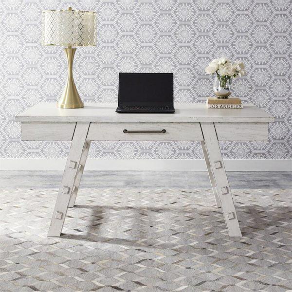 Những chiếc bàn làm việc màu trắng làm sáng không gian - Ảnh 7.