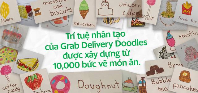 """Cú bắt tay của Grab và Google: Con vẽ đồ ăn bằng Doodle, GrabFood """"biến"""" thành món nóng sốt  - Ảnh 2."""