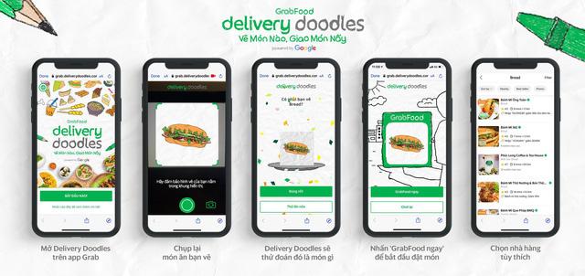 """Cú bắt tay của Grab và Google: Con vẽ đồ ăn bằng Doodle, GrabFood """"biến"""" thành món nóng sốt  - Ảnh 3."""