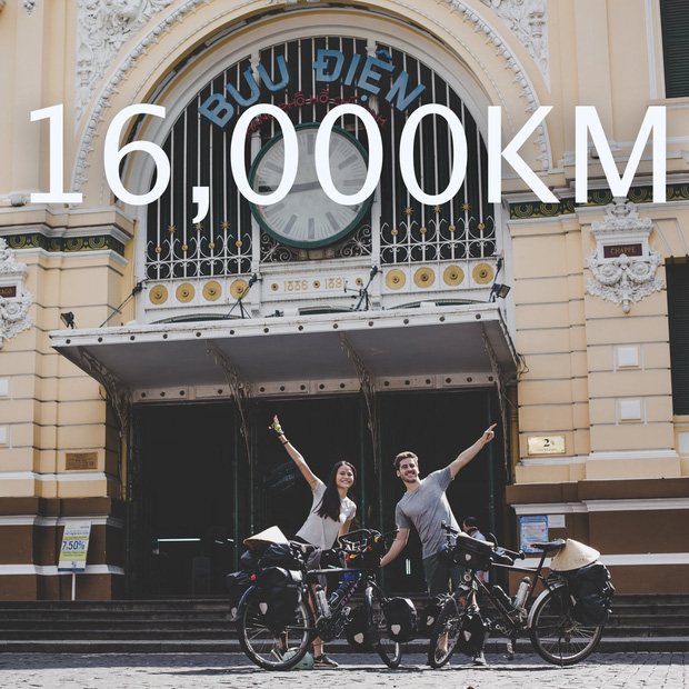 Cặp chồng Tây vợ Việt kết thúc 16.000km đạp xe từ Pháp về Việt Nam: Chặng cuối gian nan vì dịch bệnh Covid-19 - Ảnh 10.