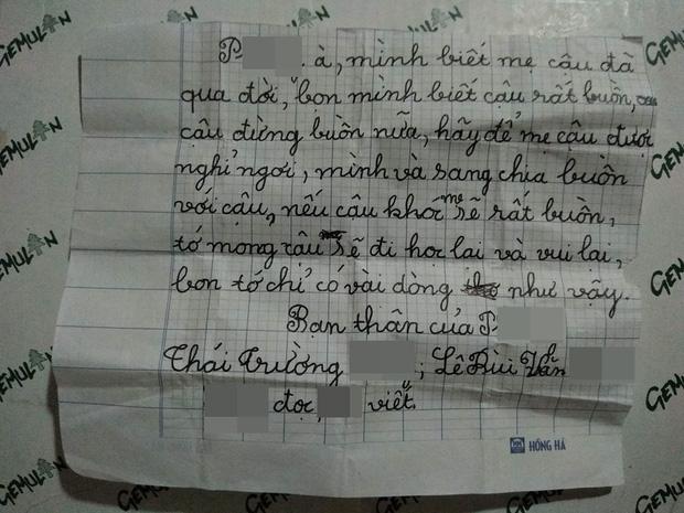 Lá thư của 2 bé trai 8 tuổi gửi bạn thân vừa mất mẹ khiến ai cũng rưng rưng: Hãy để mẹ được nghỉ ngơi, nếu cậu khóc mẹ sẽ rất buồn - Ảnh 1.