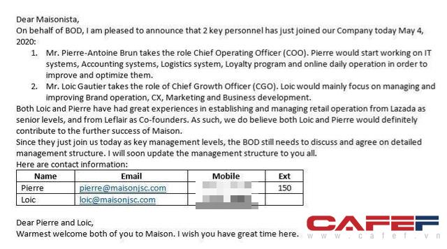 Lùm xùm thanh toán công nợ chưa lắng xuống, 2 cựu sáng lập Leflair đã được bổ nhiệm làm lãnh đạo cấp cao của Maison Group - Ảnh 1.