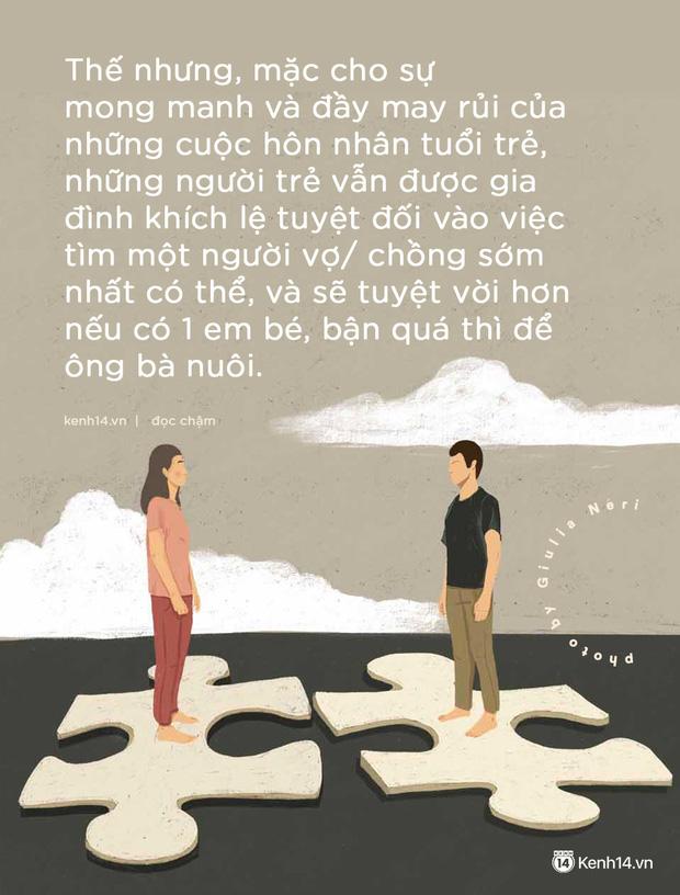 Chuyện kết hôn rồi chia tay trước tuổi 30: Đừng bước vào hôn nhân như một đứa trẻ và lệ thuộc hạnh phúc của mình vào sự may rủi - Ảnh 1.
