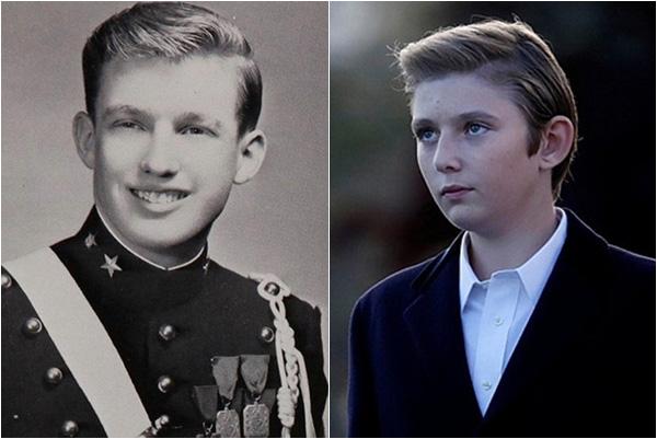 Minh chứng cho thấy hoàng tử Nhà Trắng Barron Trump giống cha như 2 giọt nước, thừa hưởng nhan sắc thời trẻ của Tổng thống Mỹ - Ảnh 3.