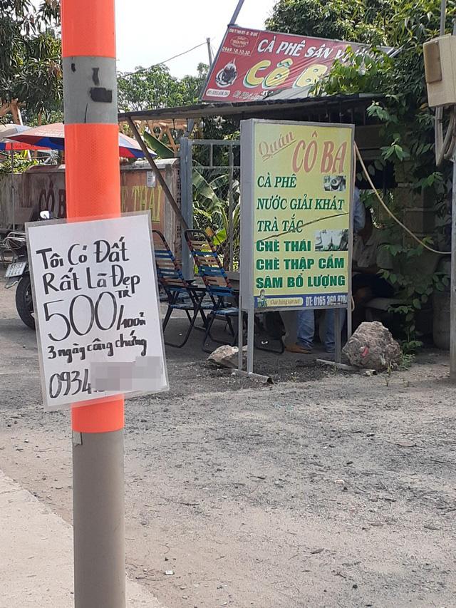 Hoa mắt với cung đường tờ dán, tờ rơi rao bán BĐS tại Long Thành (Đồng Nai) - Ảnh 4.